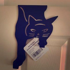 Black cat Halloween over the door double hook